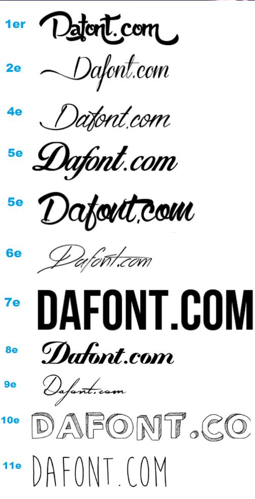 Dafont Tatouage Calligraphie