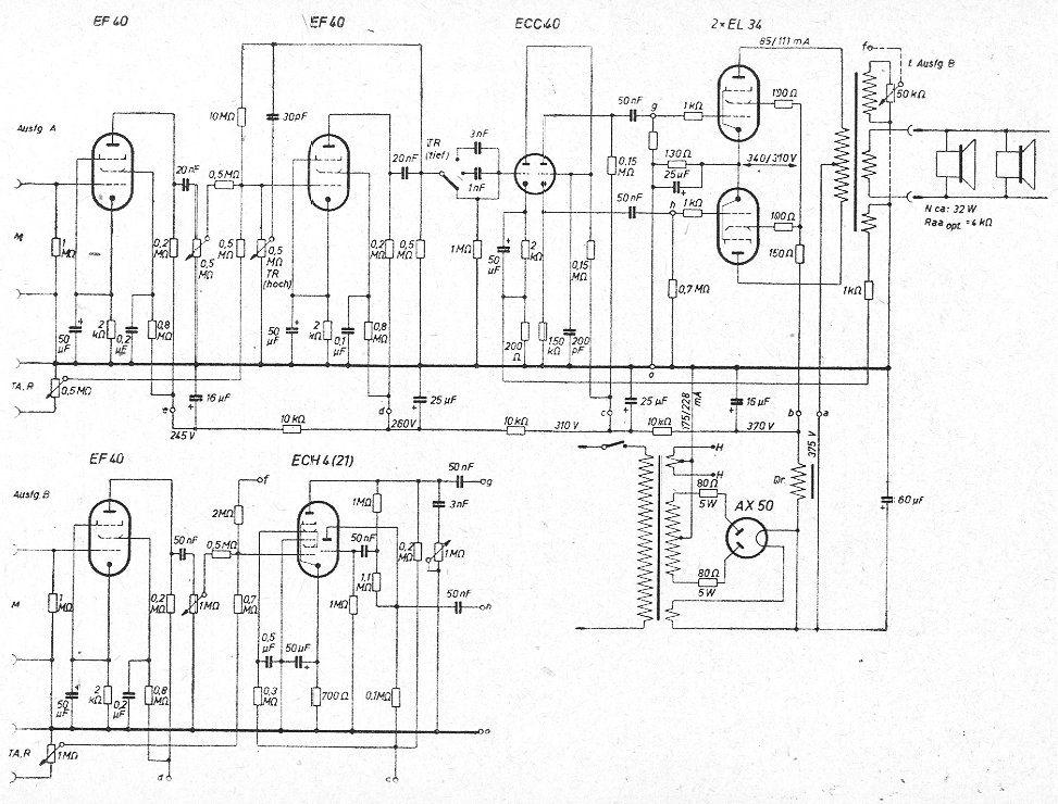 Orion Amplifier Bedradings Schema