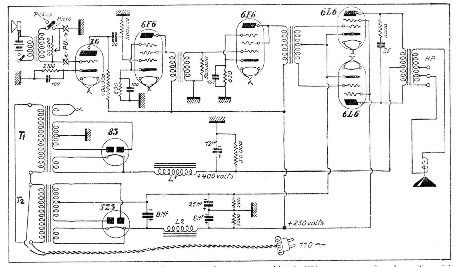 Se Tube Amplifier 6l6 Schematic