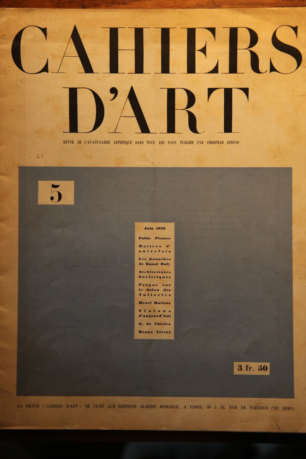 Cahiers Dart Sommaires Annes 1926 1930 Hic Sum