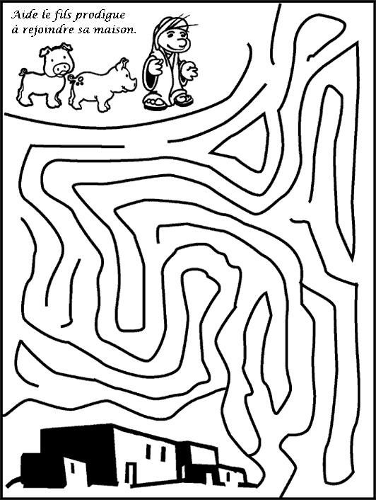 Free coloring pages of e lost son
