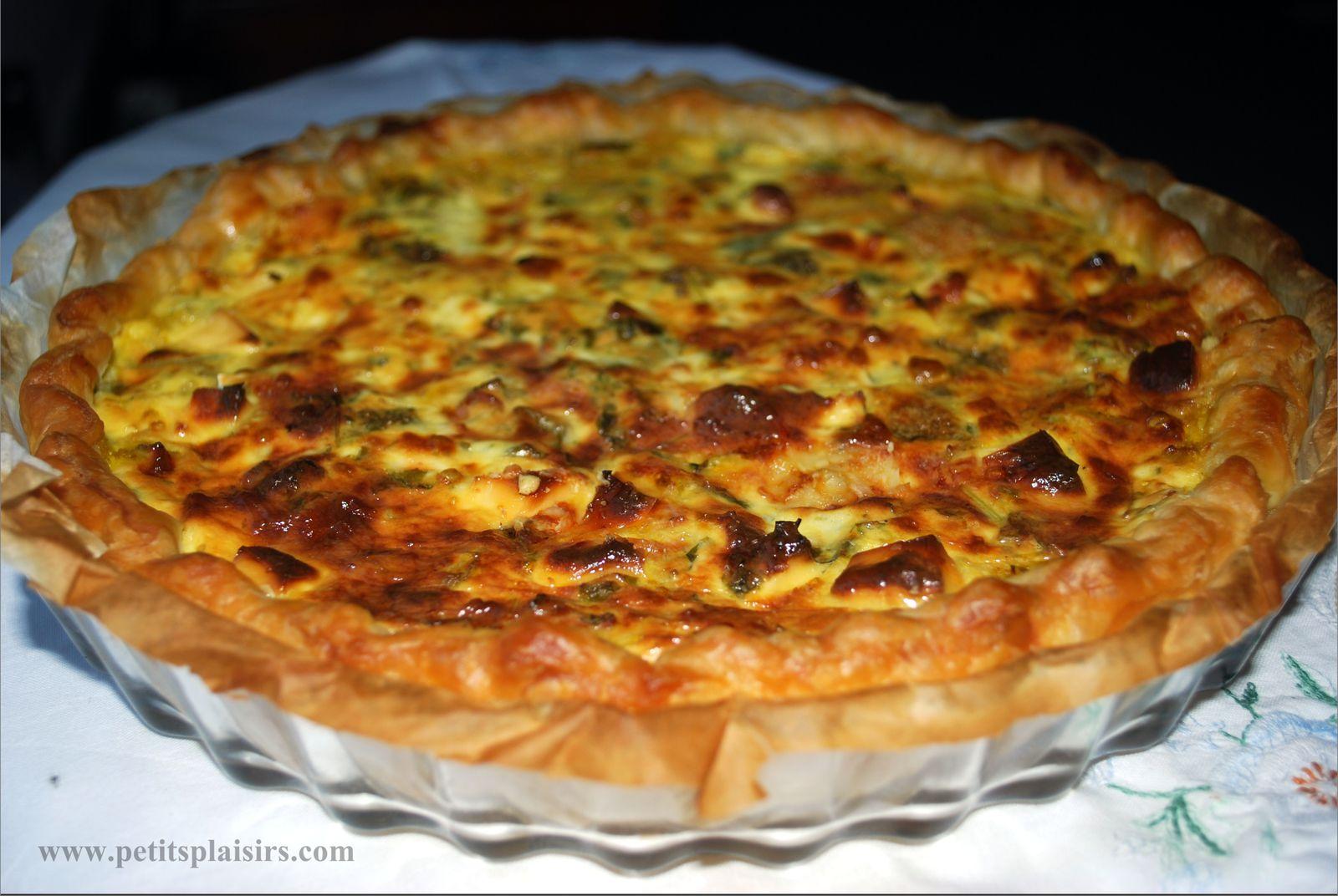 tarte aux legumes et viande hachee