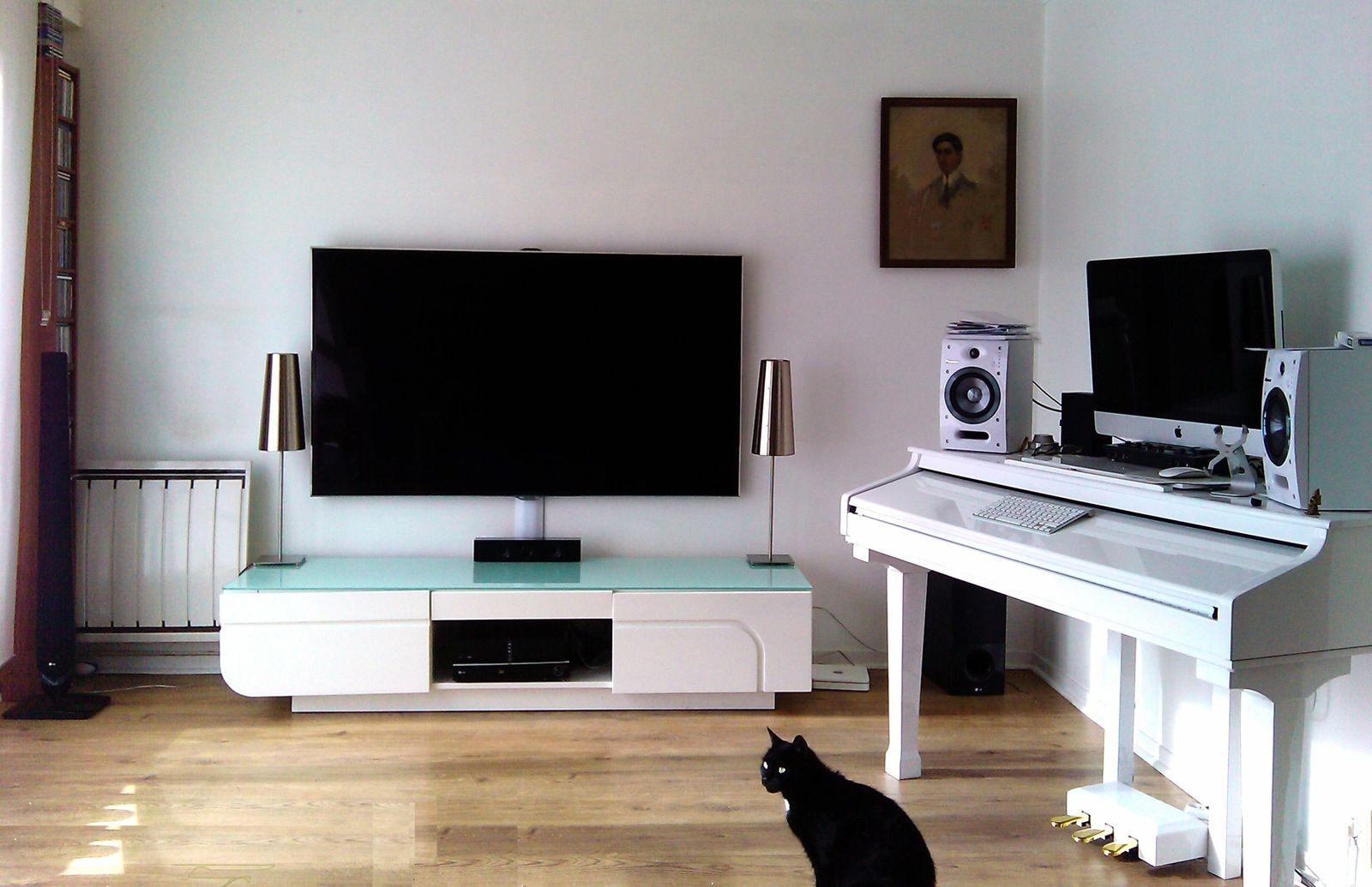 Télévision Salon Meuble Tv Hifi Design Meuble Tele Bois Trendsetter