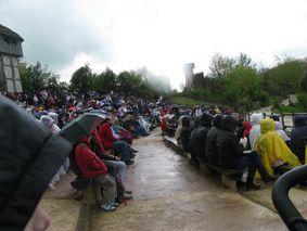 Puy-du-Fou vikings-pluie