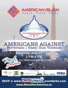 Anti-Bigotry American Muslim March to be held in Washington, DC @ National Mall | Washington | District of Columbia | United States