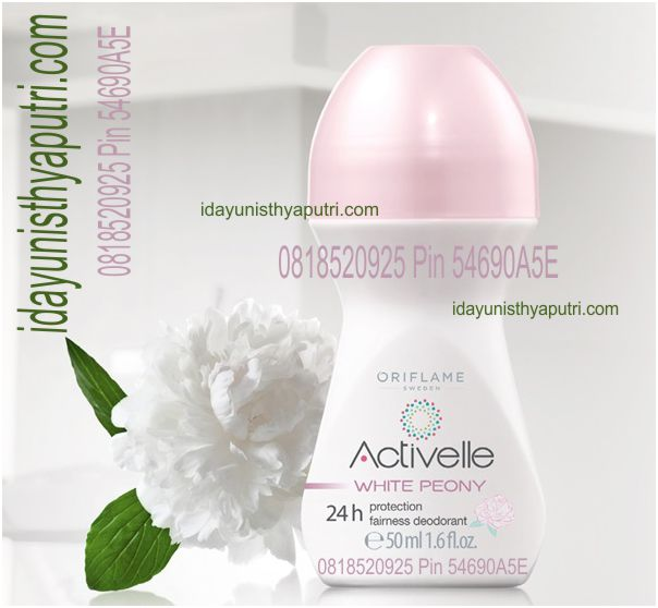 ACTIVELLE WHITE PEONY 24h PROTECTION FAIRNESS ROLL-ON DEODORANT  31272 01