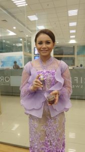 Rosa Brand Ambassador Oriflame with NovAge