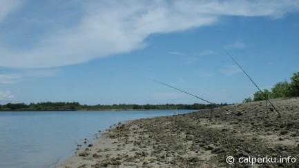 Fishing spot on the island