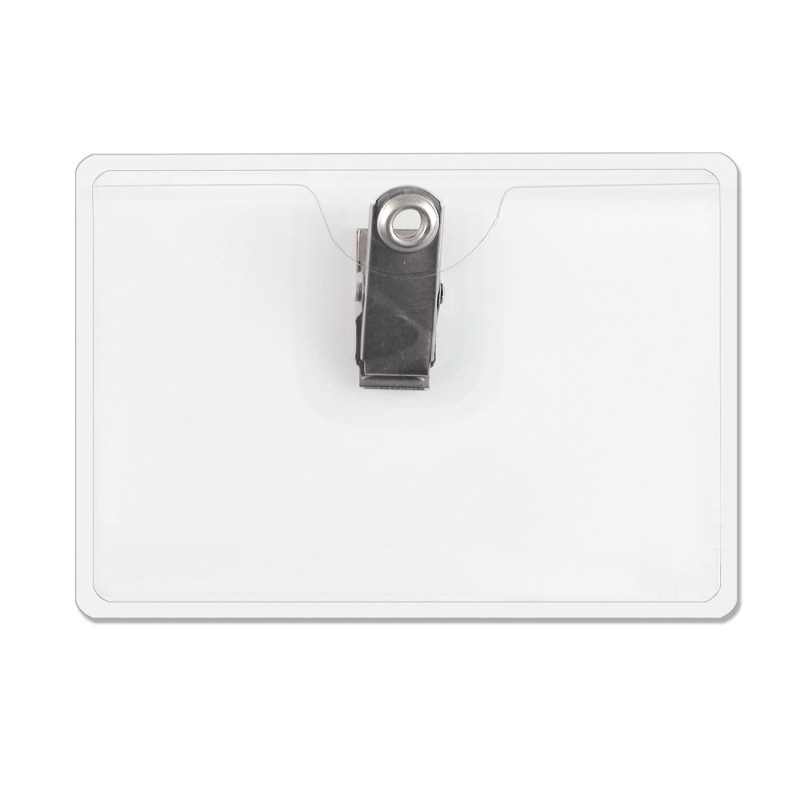 Horizontal Top Load Badge Holder w/ Clip