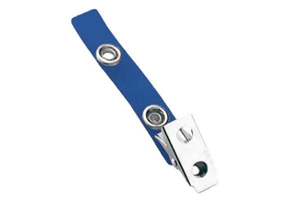 Standard Strap Clip Color Vinyl Bulldog Clip Blue