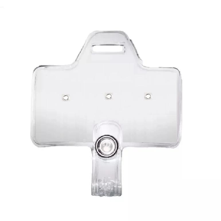 Horizontal Clear Service & Award Pin Strap Clip Adapter w/ Slot, No clip