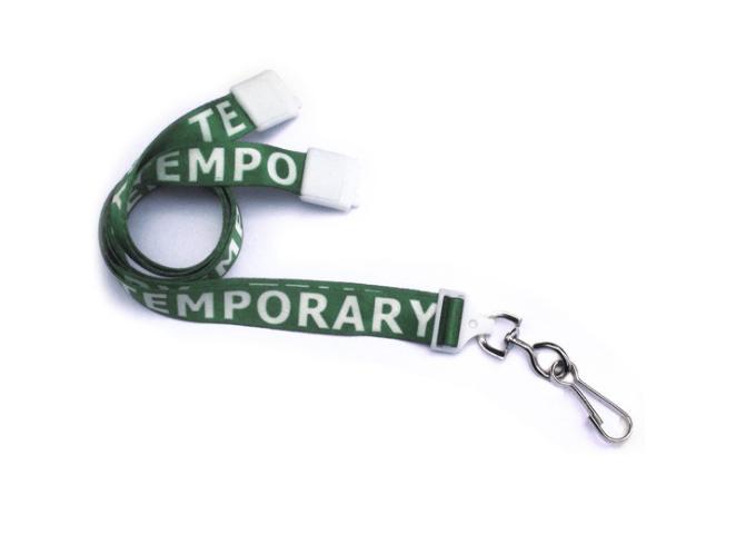 "Breakaway 5/8"" Width Lanyard with TEMPORARY"