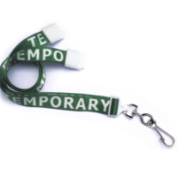 "Breakaway 5/8"" Width Lanyard with TEMPORARY"