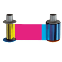 Fargo HDP6600 YMCFK Full Color Ribbon with Fluorescing Panels