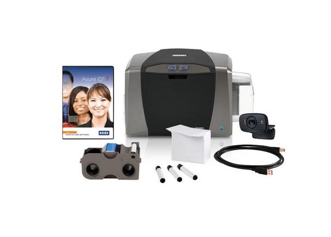 Bundle - Fargo DTC1250e SS ID Card Printer w Asure ID Solo