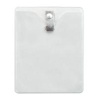 Vertical Clear Vinyl Badge Holder Gov-Military Size