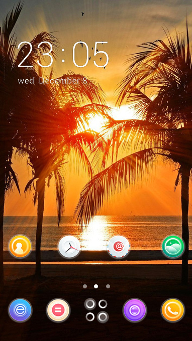 Download Themes Android C Launcher Beach Vacation Theme