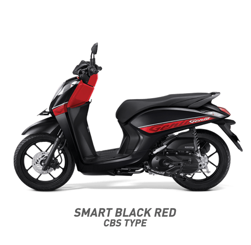 Honda Genio Smart Black Red CBS