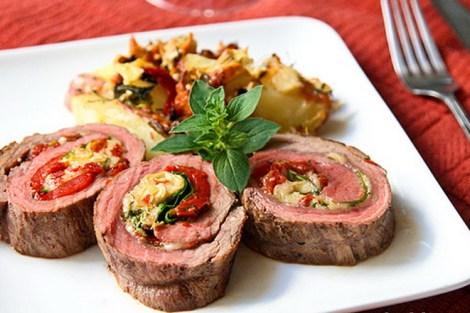 resep steak sayur gulung