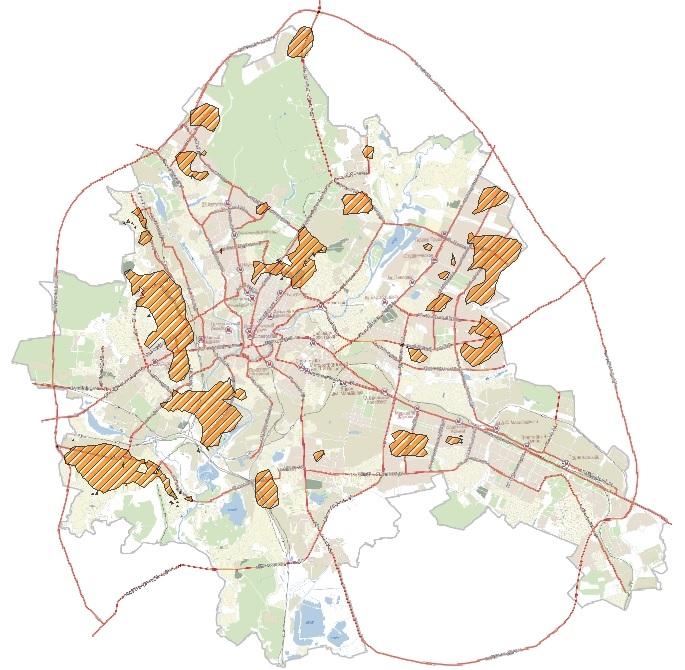 Районы  развития торговой недвижимости