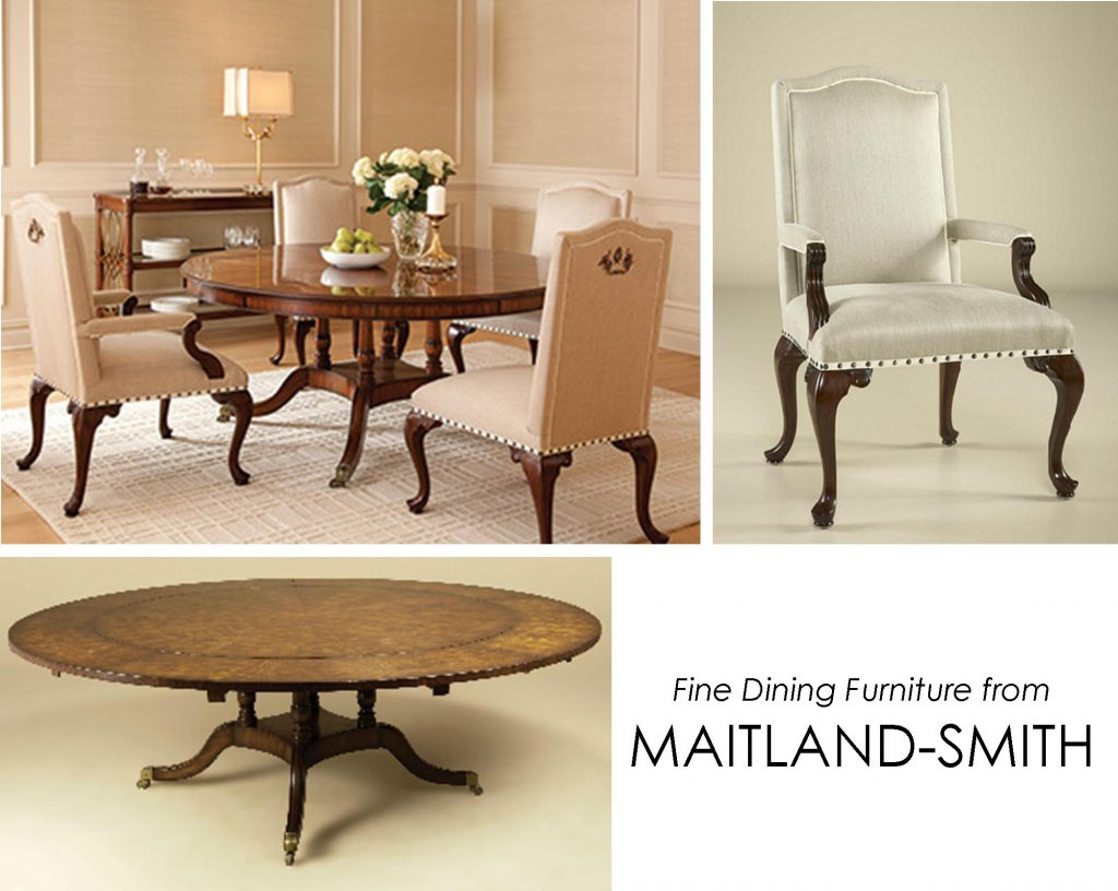 maitland smith dining chairs nursery chair grey and white tables from kdr designer showrooms