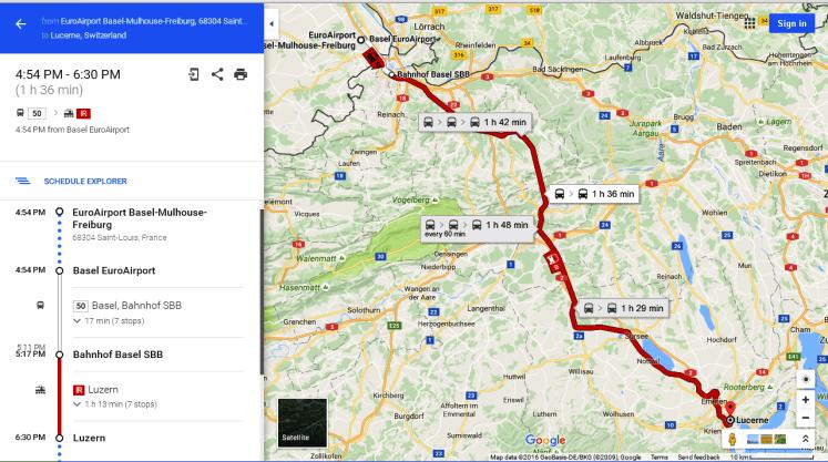 kendaraan publik di Luzern