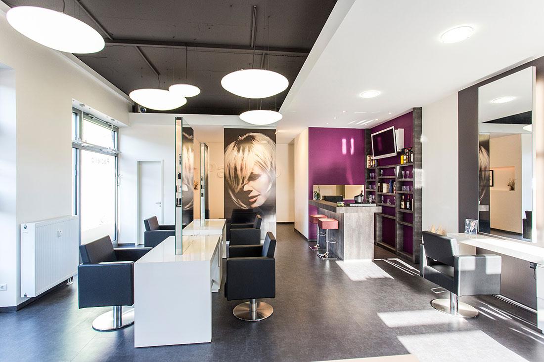 Friseureinrichtung, Friseurbedarf, Friseurspiegel, Friseurstuhl, Bedienplatz, Friseur Rezeption
