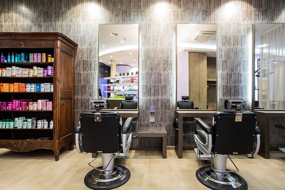 Friseureinrichtung, Friseurbedarf, Friseurspiegel, Friseurstuhl, Bedienplatz, Takara Belmont Apollo