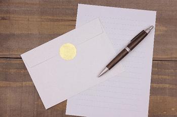 便箋、封筒とペン
