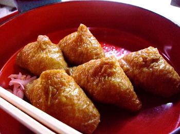 三角形のいなり寿司