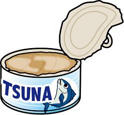 ツナの缶詰のイラスト