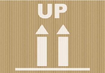 upと矢印のマーク