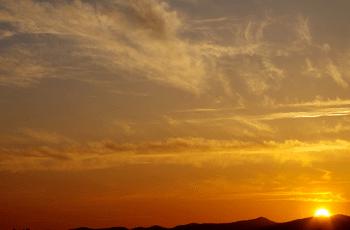 日暮れの風景