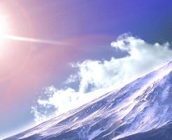 日光と山の頂