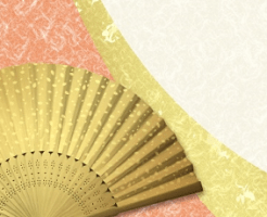 金色の扇子と和紙