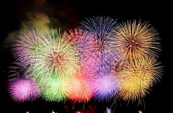 五色の花火