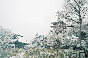 五重塔の雪景色