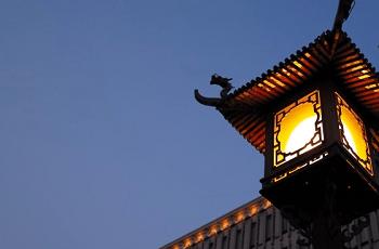 中国風の街路灯