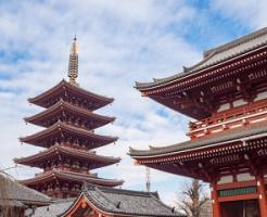 浅草寺の山門と五重塔
