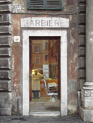 Rome, Barber Shop a via dei Portoghesi