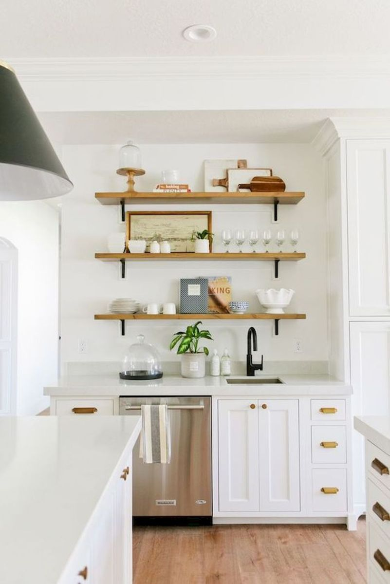 50 Stunning White Kitchen Design Ideas (17)