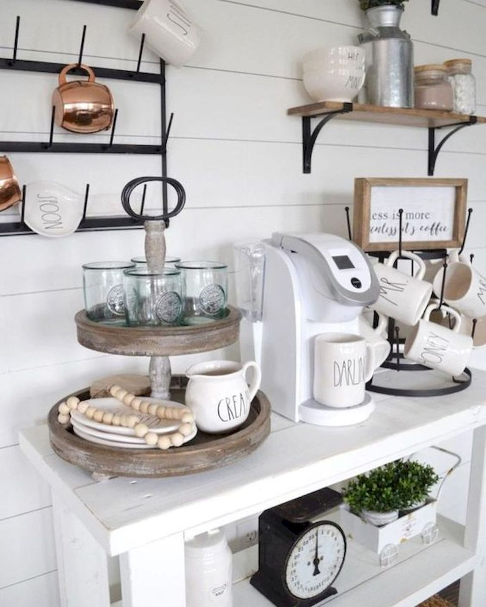 60 Best Mini Coffee Bar Ideas for Your Home (2)