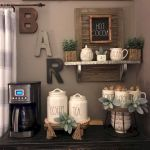60 Best Mini Coffee Bar Ideas for Your Home (34)