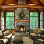 63 Best Log Cabin Homes Fireplace (16)