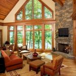 63 Best Log Cabin Homes Fireplace (21)
