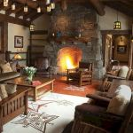 63 Best Log Cabin Homes Fireplace (25)