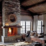 63 Best Log Cabin Homes Fireplace (48)
