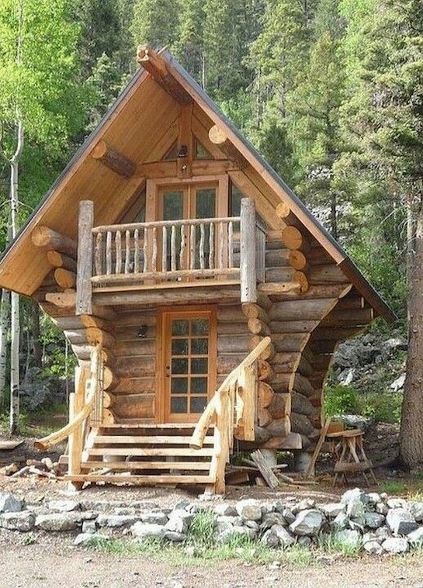 66 Best Small Log Cabin Homes (25)