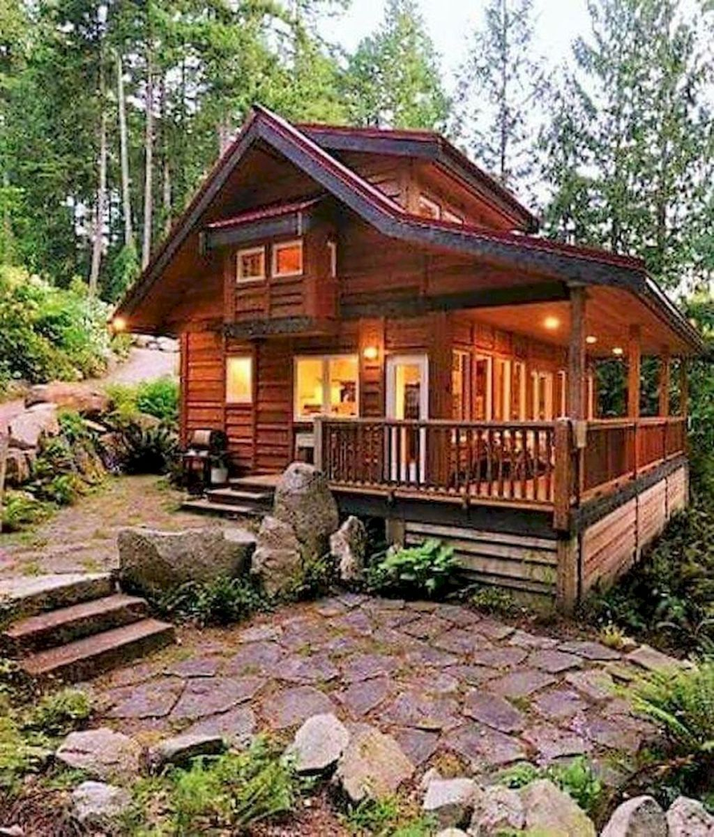 66 Best Small Log Cabin Homes (30)