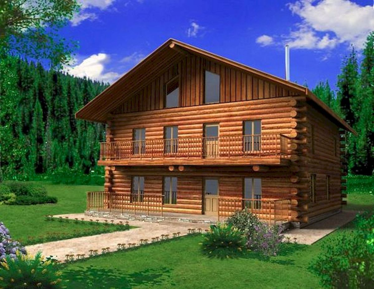 66 Best Small Log Cabin Homes (43)